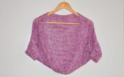 Knitting shrug – prostokątny sweter